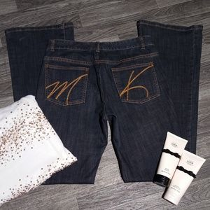 MICHAEL KORS WIDE LEG JEANS Women's Size 6 + GIFTS